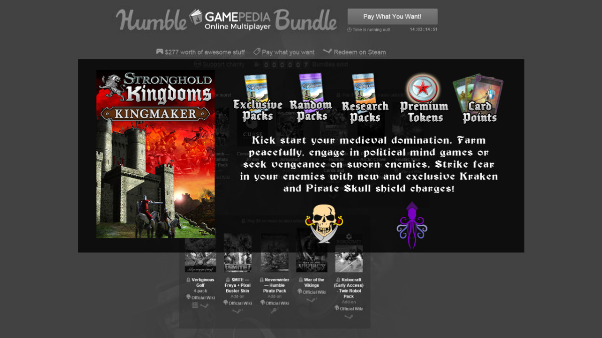 Stronghold in Humble's Bundle - Firefly Studios